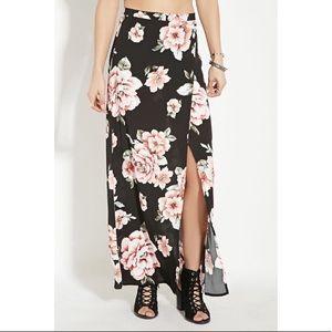 Forever21 Floral Maxi Skirt
